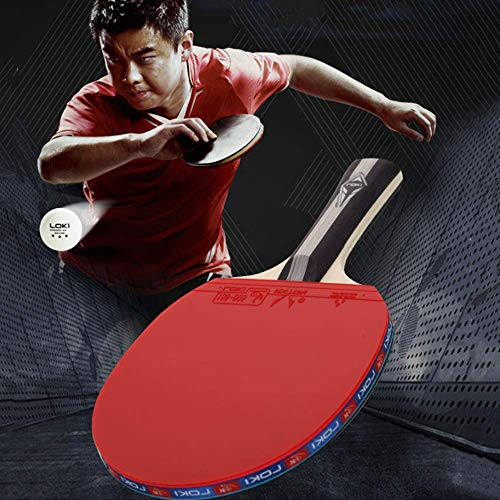 XDKQ Premium Table Tennis Set Best for Beginners and Professionalset,Ping Pongs Set Kit Complete with 2 Paddles Bats,2 Balls and Storage Bag, Kids Adults Fitness Toys