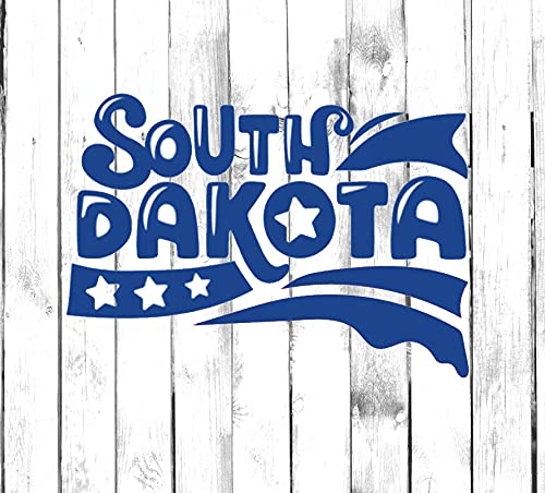 H421ld Calcomanía de tipografía del estado de Dakota del Sur – Yeti, vaso, botella de agua, coche, portátil, camión, teléfono, computadora, calcomanía para el hogar