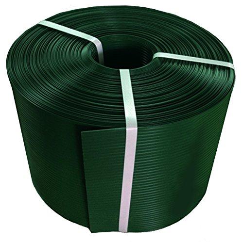 Thermoplast® ZAUNSICHTSCHUTZSTREIFEN, Sichtschutzblende, 19cm x 26m = 4,94m2, Grün (RAL 6005), 5 Jahre Garantie