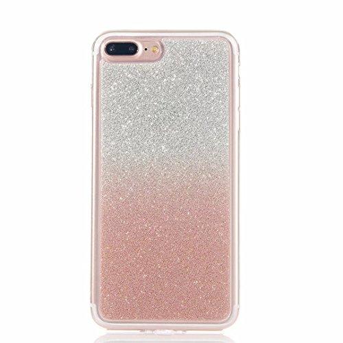 MUTOUREN iPhone 7 Plus Funda de movil Calidad Alta TPU Silicona Funda cáscara Protectora Shell Soft Funda Caso Cubierta Oro Rosa Sistemas de teléfono móvil Shell Manguito Protector