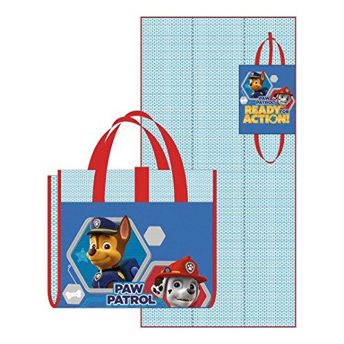 Arditex Paw Patrol Matte mit Kissen und Tasche, Blau
