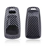TOMALL Carbon Fiber Pattern Luxury Car Key Protective Cover Keychain Compatible for Smart Audi 2016 up A4, 2017 up A5, 2017 up Q5, 2016 up Q7, 2015 up TT, 2016 up R8 Key Fob Cover