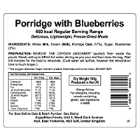 EXPEDITION FOODSexpeditionfoods.com Unisex's Regular Porridge with Blueberries | Freeze-Dried Camping & Hiking Food| Single Serving | 450kcal Meal