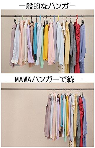 『MAWA マワハンガー マワ・人体ハンガー 10本組 ブラック・116065』の5枚目の画像