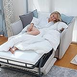 place to be. Sofá cama Insideout con superficie de 85 x 200 cm, colchón de espuma fría y somier, funda individual fácil de desplegar, exclusivo roble macizo