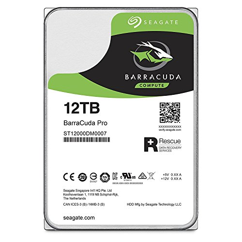 Seagate Barracuda Pro Performance Internal Hard Drive SATA HDD 14TB 6GB/s 256MB Cache 3.5-Inch - Frustration Free Packaging (ST14000DM001) (Renewed)