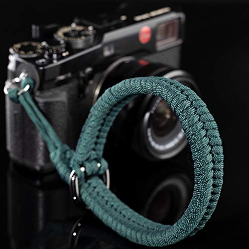 Camera Wrist Strap (550 Paracord/Turquoise) Higher-end and Safer Adjustable Camera Wrist Lanyard, Suitable for Nikon/Canon/Sony/Panasonic/Fujifilm/Olympus DSLR or Mirrorless Camera Hand Strap