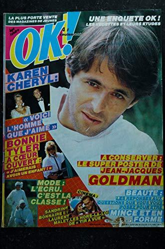 OK ! âge tendre 451 JEAN-JACQUES GOLDMAN + Poster KAREN CHERYL BONNIE TYLER PATRICK BRUEL