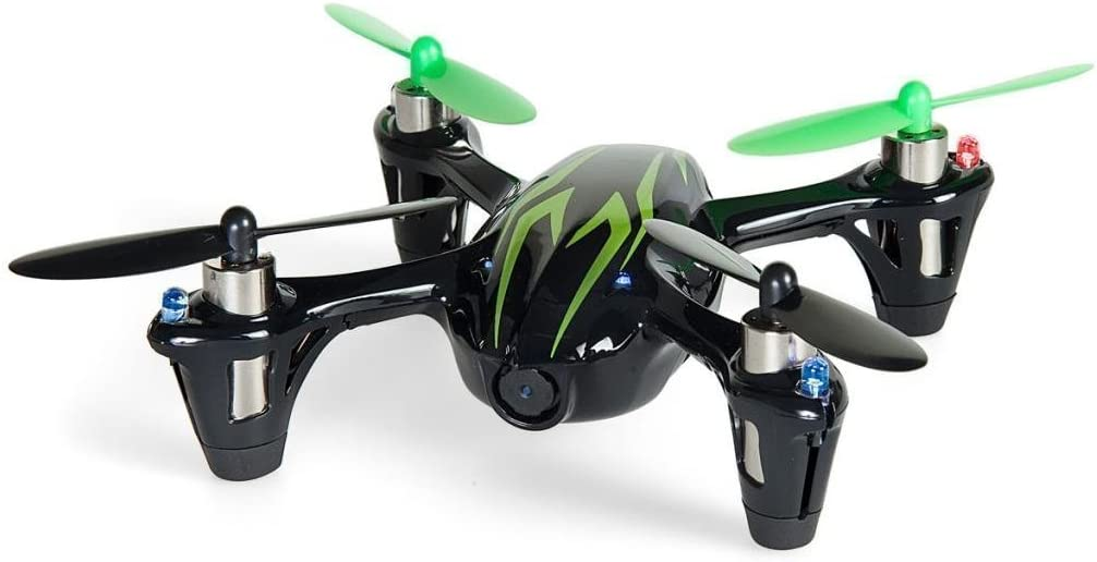 Hubsan X4 H107C 2.4G 4CH RC Quadcopter With HD 2 MP Camera RTF Nero-Verde