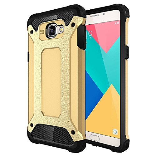 Basic Phone Cases Phone Case for Samsung Galaxy A9 / A900 Tough Armor TPU + PC Combination Case Protective Cover Wear Resistant Ultra-Thin Protection (Color : Gold)