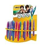 Bic Easy Clic - Pluma estilográfica (trazo medio, 20 unidades), multicolor