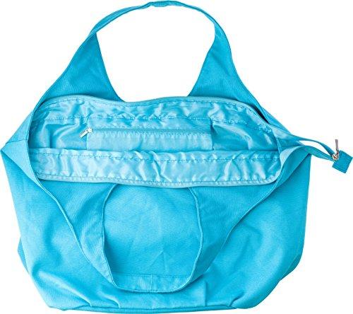 Strandtasche Hellblau mit innenliegendes Fach die Tasche hat sehr viel Platz Badetasche 34,0 x 55,0 x 17,0 cm Damentasche