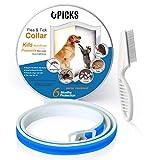 Collar de pulgas para perros, 6 meses de protección contra pulgas y control de garrapatas para...