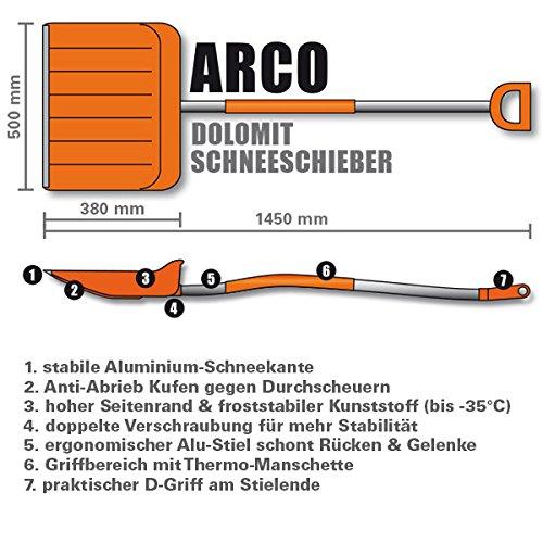 1 x Schneeschieber GRATIS! Doppelpack 2 ergonomische Kunststoff Schneeschieber ARCO 50% Rabatt (Einzelpreis 49,80) - 2