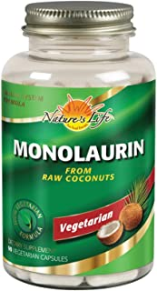 Nature's Life Monolaurin Capsules, 990 mg | Vegetarian | Support For Healthy Immune Function & Digestion | Optimal Wellnes...