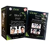 Black Hair Shampoo -Shampoing Colorant Noir-Instant Hair Dye - Black Color - Simple to Use - Last 30 days - Natural Ingredients 25mlx10 Packs