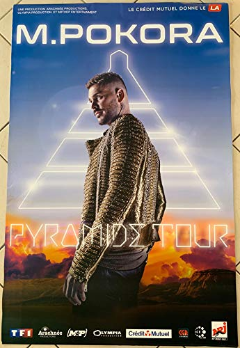 AFFICHE / M.POKORA - Pyramide Tour Mat POKORA - 80x120cm Poster