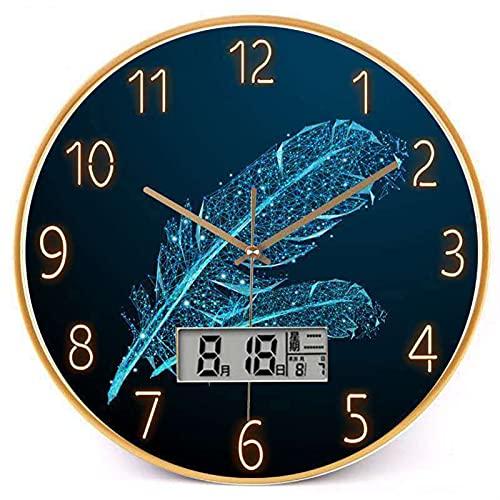 XIALIMY Joyería 12 Pulgadas silenciosa Sala de Estar Pared Reloj de Pared Reloj de Pared Ambiente Ambiente Simple Reloj Moda Creativo hogar Moderno Reloj (Color : C, Sheet Size : 1pcs 12 Inch)