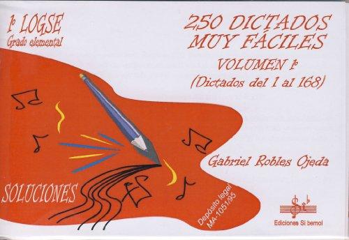 SIBEMOL - Dictados 1º: 250 (1/168) Dictados muy Faciles (Inc.3 CD) (Robles Ojeda)