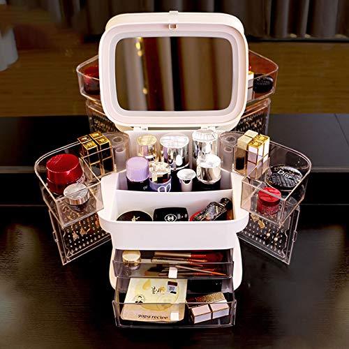 ZYHA Acryl-Kosmetik-Organizer,staubdichte Make-up Organizer-Aufbewahrungsorganisatoren mit oberer...