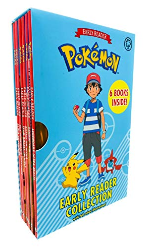The Official Pokémon Early Reader 6 Books Box Set Collection with Full Colour Illustrations(Alola Adventure,Guardians Challenge,Team Rocket Trouble,Battle on Alola,School Trip &Legendary Ultra Beasts)
