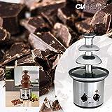 Edelstahl Schokoladen-Brunnen Schoko-Brunnen Fontäne Elektrisch Käse Frucht-Soße Barbecue-Soße (Sparsame 170 Watt, 500 g Schokolade, 750 g Kuvertüre) - 3