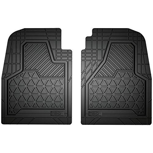 Dickies 80133, Icon 2-Piece Black Truck Floor Mat Set