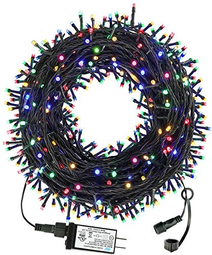 105FT 300LED Christmas Lights Outdoor Indoor, 8 Modes Christmas Lights - UL Certified - Outdoor Indoor Fairy Lights Christmas Tree, Patio, Garden, Party, Wedding, Holiday (4 Sets CONNECTABLE) Colore