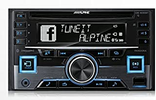 $189 » Alpine CDE-W265BT Double DIN Bluetooth in-Dash CD/AM/FM Receiver w/App Direct Mode (Renewed)