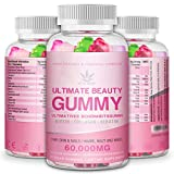 Hair Vitamin Gummies - 15,000mcg Biotin Gummies, Hair Skin and Nails Multivitamin Gummy for Women, Omega 3 6 &...