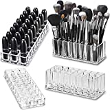 byAlegory (Limited Offer Gift Set) Acrylic Lipstick & Acrylic Beauty Brush Organiser | 48 Space Beauty Cosmetic Storage