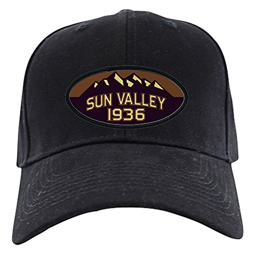 CafePress - Sun Valley Sepia Black Cap - Baseball Hat, Novelty Black Cap
