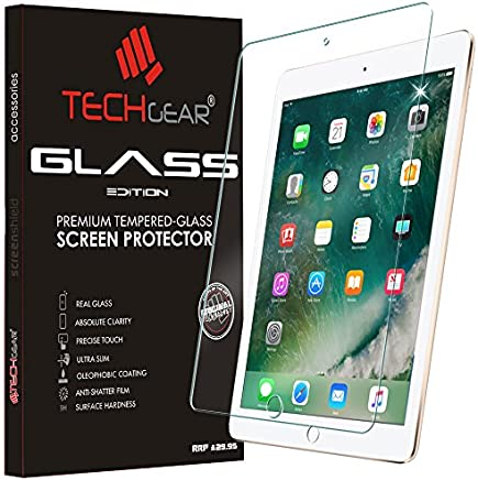 "TECHGEAR GLASS Edition for iPad 9.7"" (2018/2017) - Genuine Tempered Glass Screen Protector Guard Cover Compatible with New Apple iPad 9.7 5th & 6th Gen - Apple Pencil Compatible"