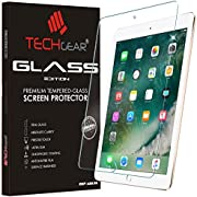 """TECHGEAR GLASS Edition fits New Apple iPad (9.7"""" / 2017) Genuine Tempered Glass Screen Protector Guard Covers"""
