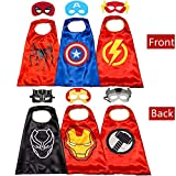 Kids Costumes Capes and for Kids Superhero Double Side Cape Best Superhero Toys and Kids Gifts Red
