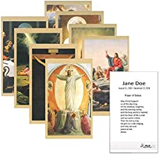 Set of 50 Custom Funeral - Memorial - Mass Cards (Assorted 3)