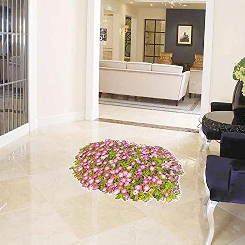 Pegatinas De Suelo De Flores 3d Pegatinas De Pared De Naturaleza Pegatinas De BañO Sala De Estar Dormitorio CalcomaníAs De ArtíCulos Pegatinas