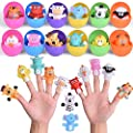 FUN LITTLE TOYS 12 PCs Easter Eggs Prefilled with Animal Finger Puppets, Easter Party Favors, Easter Basket Stuffers, Easter Egg Fillers, Goodie Bags Fillers, Classroom Prizes from FUN LITTLE TOYS