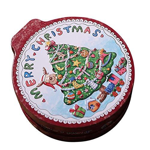 OIJN Caja de cartón Caja de caramelo Tarro de Navidad Caramelo Navidad Navidad Eve Box Apple para Navidad Boda Fiesta Casa Jardín