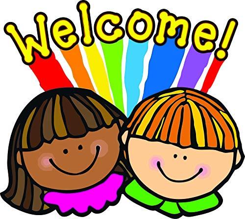 Autocollants muraux pour décoration de Salle de Classe et décoration Murale – Smile Kids Kid Creative Teacher Art Stickers Autocollants de Retour à l'école pour Enseignants Taille 50,8 x 50,8 cm