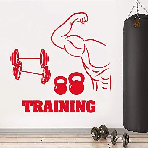 Trainingswandaufkleber mit Abnehmbarer Dekoration 42X42cm