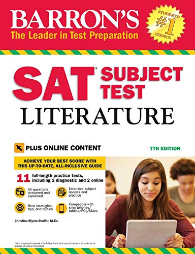 Barron's SAT Subject Test Literature with Online Tests