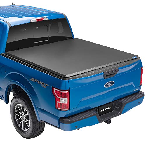 """Lund Hard Tri-Fold, Hard Folding Truck Bed Tonneau Cover   969353   Fits 2017 - 2021 Ford Super Duty 8' 2"""" Bed (98.1"""")"""