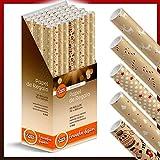 Caja-Expositor 50 Rollos Papel de Regalo KRAFT NAVIDAD grandes (5 motivos navideños) 70 cm x 200 cm (2 m). IDEAL para: Tiendas Comercios Reyes magos Papa Noel Fiestas Cenas Niños