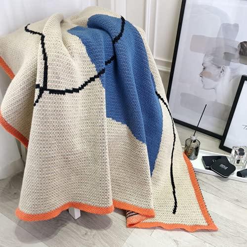 RHXJ Manta fría de verano, manta de peso cómodo, manta de plumón de reina, manta ligera, tamaño completo, azul 110 x 170 cm