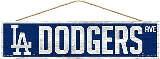 WinCraft MLB Los Angeles Dodgers SignWood Avenue Design, Team Color, 4x17