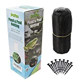 POYEE Pond Netting for Leaves 13 x 33 Feet - Pool Leaf Cover Net with Small Fine Mesh - Protecting Koi Fish from Birds, Cats - Stakes Included.