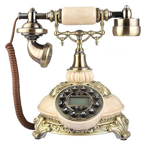 GLGG Teléfono De Estilo Europeo Vintage, Teléfono con Cable De Escritorio con Pantalla De Identificación De Llamadas FSK Y DTMF, para La Decoración Interior De La Familia del Hogar