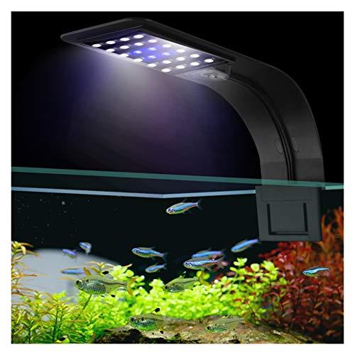 YSVSPRF Luz de pecera Súper Brillantes Luces llevadas del Acuario Plantas Llevado Crece la luz 5W / 10W / 15W Lámparas acuáticos de Agua Dulce contra Agua Clip lámpara for Fish Tank (Color : X7 1)