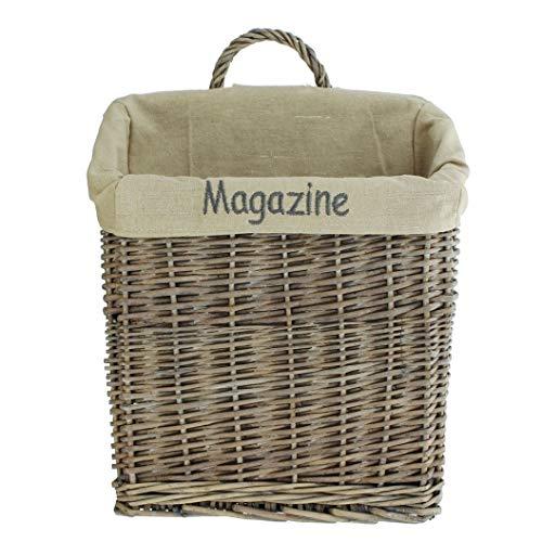 """Zeitschriftenkorb""""Magazine"""" aus Weide, grau, Zeitungskorb"""